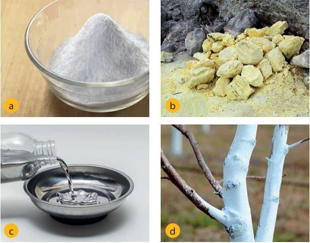 Simyacılar soda (a), kükürt (b), cıva (c), sönmüş kireç (d) maddelerini keşfederek kullanmışlardır.